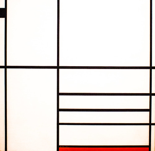 Compostion in White, Black, and Red