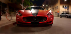 Maserati Rosso. (Papa Razzi1) Tags: maserati rosso red night car italian september 2019 summer