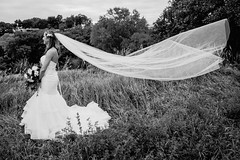 long veil + wind equals awesome (nichols_) Tags: bride brides beautiful blackandwhite sonya7iii veil woman women