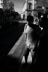 Shadow at the tram stop (lesphotosdepatrick) Tags: igersmontpellier streetphotography streetdreamsmag lensculture featureshoot lightandshadow protectyourhighlights embraceyourshadows creativeshoot acros fujifilmx100f fujifilmeu fujilove fujixlovers fineeyemagazine picoftheday storytelling emotions montpellier tram