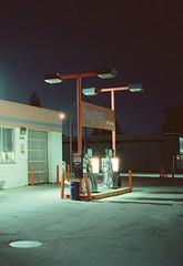 Fuji GW690II / Cinestill 800T. (Fistfulofpowder) Tags: 120mm film edmonton alberta night photography fujigw690ii cinestill 800t