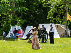IMGPL05230_Fk - Spring Mill State Park - Civil War Days (David L. Black) Tags: mitchell indiana unitedstatesofamerica olympus40150f28 olympusomdem1x stateparks springmillstatepark civilwarreenactment