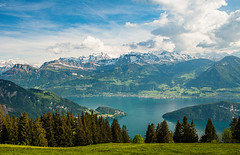 Alpine Beauty (Ann Kunz) Tags: switzerland landscape hiking travel europe lakelucerne mountrigi alps water lake