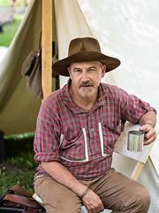 IMGPL05206_Fk - Spring Mill State Park - Civil War Days (David L. Black) Tags: mitchell indiana unitedstatesofamerica olympus45f12 olympusomdem1x stateparks springmillstatepark civilwarreenactment