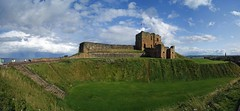 Tynemouth Priory, Castle & Moat (WISEBUYS21) Tags: tynemouthpriory tynemouth castle northeastofengland northshields moat green grass panorama blue sky seas rain cloud clouds ship river tyne coast coastal seascape wisebuys21 1st september 2019 best bright sunny faves favourite newcastleupontyne uk viking anglo saxon whitleybay water boat tourists tourist people free creative commons public domain cliff cliffs top rocks rocky shore monks holy place grave yard roman second world war gun placements