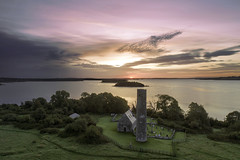 Dawning of a new day. Lough Derg (Sean Hartwell Photography) Tags: iniscealtra loughderg dawn sunrise morning lake church ireland countyclare clare