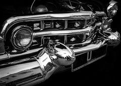 Pretty Metal (creativegaz) Tags: blackandwhite bw bnw beautiful car cadillac front metal vintage driving motor vehicle olympus