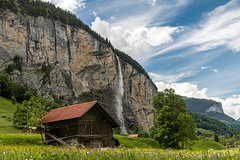 Hiking in the Valley (Ann Kunz) Tags: waterfalls switzerland nature landscape travel europe lauterbrunnenvalley alps rural sky mountains