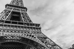 Lines in the Sky (Ali Sabbagh) Tags: eiffeltower eiffel france paris blackandwhite bnw architecture minimalism steel world industrial sky canon eos7d