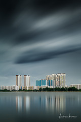 Pandan Reservoir I (Alec Lux) Tags: hdb pandan singapore apartment architecture building buildings city cityscape curves design exterior facade flat haida haidafilters lines longexposure minimal minimalism modern outdoor outside reservoir shape skyline skyscraper tower urban water