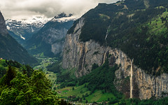 Village Overlook (Ann Kunz) Tags: waterfalls switzerland nature landscape travel alps lauterbrunnenvalley mountains