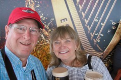 Enjoying Our Guinness Stout (Piedmont Fossil) Tags: dublin ireland guinness stjamessgate brewery gravity bar mike mary pint glass stout beer