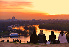 belgrade sunset (poludziber1) Tags: belgrade sky sunset serbia people orange river matchpointwinner mpt741