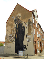 Wallpainting in Horsens (cats_in_blue) Tags: wallpainting horsens vægmaleri gavlmaleri streetart cmpone