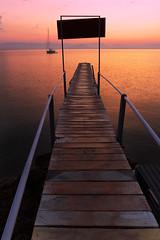 Corfu Lefkimmi (massonth) Tags: greece corfu island wood water wooden footbridge europe sea sunset seascape canon eos 60d luminosity masks overlay