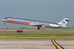 AA80 (zfwaviation) Tags: kdfw dfw dallasfortworth airport md80 md83 american airlines jt8d roswell retirement aal80 aa80 super80sendoff
