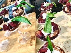 (cafe_services_inc) Tags: cafeservicesinc corporatedining citypoint guestchef polenta risotto dessert strawberries ricotta