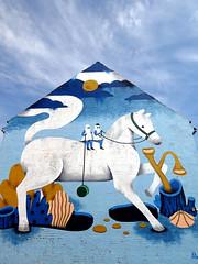 Wallpainting in Horsens (cats_in_blue) Tags: andreawan gavlmaleri streetart wallpainting vægmaleri horsens