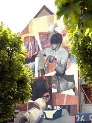 Wallpainting in Horsens (cats_in_blue) Tags: wallpainting horsens vægmaleri gavlmaleri streetart morik