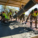 U.S. Marines, Timor-Leste Defense force soldiers build a waiting area during Exercise Hari'i Hamutuk 2019