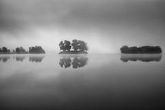 Misty morning reflections (Sebo23) Tags: reflections reflektionen schwarzweis blackwhite nature naturaufnahme natur nebel landschaft landscape langzeitbelichtung canoneosr canon16354l
