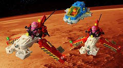 Flight Training (The Brick Artisan) Tags: neoclassic neo classic space spaceship training craft lego ll102 fl56 spaceman classicspace minifigure minifigures shuttle pod mars ionospheric teaching