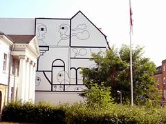 Wallpainting in Horsens (cats_in_blue) Tags: wallpainting horsens vægmaleri gavlmaleri streetart phucvandang