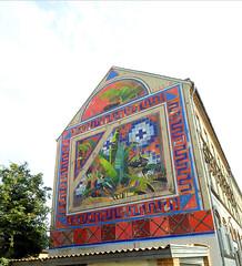 Wallpainting in Horsens (cats_in_blue) Tags: wallpainting horsens vægmaleri gavlmaleri streetart peterbirk