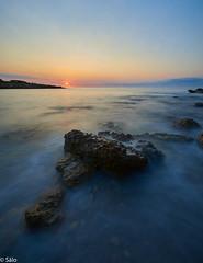 Amanecer en Cala Argilaga (salo75) Tags: agua mediterraneo cielo landscape rocas seascape clouds water peñiscola sunrise olas paisaje beach mar playa