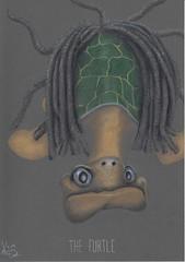 The Furtle. (Klaas van den Burg) Tags: turtle humor wordplay fur dreadlocks colored pencil underwater