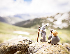 Not all those who wander are lost.... (Shelly Corbett Photography) Tags: lego lotr colorado mountains lensbaby legophotography