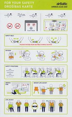 Air Baltic A-220-300 (Dmitry's Safety Cards for Trade) Tags: airbus latvia dehavillandbombardier cseries cs300 airbaltic a220 a220300 safetycard