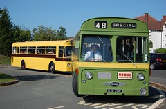 A possible preservation first? (Renown) Tags: buses daimler roadliner src6 srp8 wolverhampton bournemouth corporation transport wmpte njw719e kru55f wythall museum preserved preservation heritage restored bammot