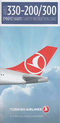Turkish Airlines A-330-200/-300 (Dmitry's Safety Cards for Trade) Tags: airbus a330 a330300 turkey turkishairlines a330200 safetycard