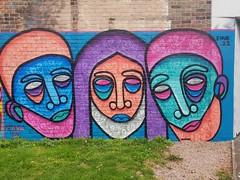 Cheltenham Paint Festival 2019 (DJLeekee) Tags: cheltenham paint festival graffiti streetart andydyce mydogsighs dankitchener dnk inkie rocket01 faunagraphics trusticon snake stencil keone zabou irony