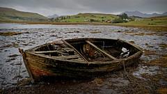 All Washed up... (Harleynik Rides Again.) Tags: isleofskye boat wreck abandoned loch highlands traditionalwoodenboat shipwreck washed up harleynikridesagain nikondf