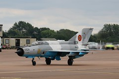 Romanian Air Force MiG-21 LanceR-C 6824 at Fairford EGVA 21/07/19 (IOM Aviation Photography) Tags: romanian air force mig21 lancerc 6824 fairford egva 210719