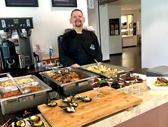 (cafe_services_inc) Tags: cafeservicesinc corporatedining citypoint guestchef polenta risotto chef employee display
