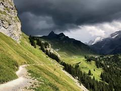 Thunderstorm in the Swiss Alps (__ PeterCH51 __) Tags: engstlenalp hiking hikingtrail meiringen bernesealps berneseoberland alps alpen swissalps switzerland cantonofbern cantonbern thunderstorm clouds sky darkclouds darksky iphone peterch51 innertkirchen scenery landscape berge