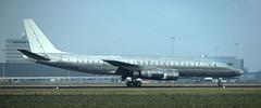 DC-8   EL-AJO   AMS   19911117 (Wally.H) Tags: mcdonnell douglas dc8 elajo lwa liberiaworldairlines ams eham amsterdam schiphol airport