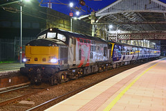 37611 331104 5Q17 Preston (British Rail 1980s and 1990s) Tags: train rail railway railroad loco locomotive lmr londonmidlandregion mainline wcml westcoastmainline livery liveried preston lancs lancashire station traction night pegasus 5q17 drag br britishrail ee englishelectric type3 growler tractor 37 class37 europhoenix rog railoperationsgroup caf civity emu electricmultipleunit 331 class331 passenger ecs emptycarriagestock northern arn arrivarailnorth 331104 37611