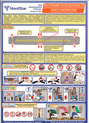 NordStar B-737-800 (Dmitry's Safety Cards for Trade) Tags: russia b737 boeing b737800 nordstartaymyrairlines safetycard