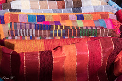 A colorful display (Irina1010) Tags: fabrics colorful catchy colors textures handmade morocco medina canon outstandingromanianphotographers coth5