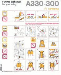 Lufthansa A-330-300 (Dmitry's Safety Cards for Trade) Tags: germany airbus lufthansa a330 a330300 safetycard