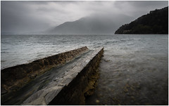 Rough conditions at Lake Como (Rob Schop) Tags: lake comomeer lagodicomo italy bellaitalia rain storm longexposure pola hoyaprofilters wideangle composition leadingline samyang12mmf20 sonya6000 weather f11 lenno lrcc landscape vacation
