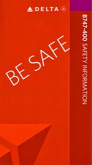 Delta Airlines B-747-400 (Dmitry's Safety Cards for Trade) Tags: deltaairlines usa boeing b747 b747400 safetycard