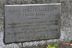 Henry Cowell Redwoods State Park (Ian E. Abbott) Tags: dedicationplaque historicmarker henrycowellredwoodsstatepark cowellredwoods california felton stateparks redwoodtrees redwoods forest