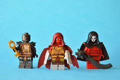 Baddies (th_squirrel) Tags: lego dc comics architect zachary gate azrael jean paul valley reaper minifig minifigure minifigs minifigures