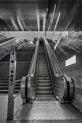 Hafencity - Rolltreppe - Move it (Michi Klotzin) Tags: hafencity rolltreppe streetfotografie sw überseequartier hamburg bw blackandwhite architektur architecture ubahnstation subway