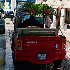 And why not a flourished  Lisbon Piaggio TukTuk? (pedrosimoes7) Tags: tuktuk red rouge rosso vermelho piaggio transport transportation alltypesoftransport r1dezembro lisbon portugal